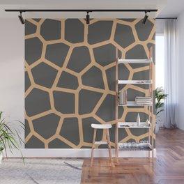 Giraffe Print Skin Pattern Wall Mural
