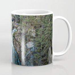 königssee waterfall alps bayern forrest drone aerial shot nature wanderlust Coffee Mug