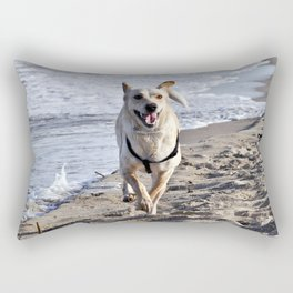 WHITE DOG in SICILY Rectangular Pillow