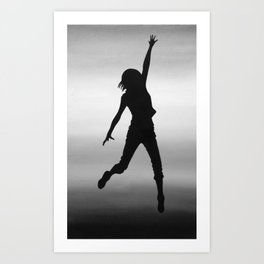 Body Movin - Touch the Sky B&W Art Print