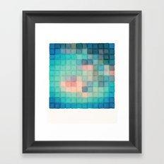 Polaroid Pixels VI (Crabapple) Framed Art Print
