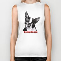 boston terrier Biker Tanks featuring Boston Terrier by Gooberella