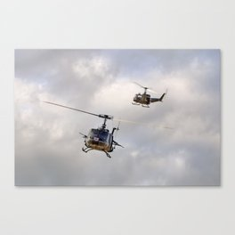 Bell UH-1 Iroquois Helicopters - (A Pair of Hueys) Canvas Print