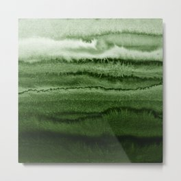 WITHIN THE TIDES FOREST GREEN by Monika Strigel Metal Print