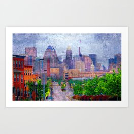 Baltimore skyline from Johns Hopkins Hospital Art Print