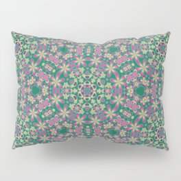 YELLO! Pink Flowers On The Lawn Pillow Sham