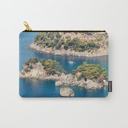 The islet of Panagia in Parga, Greece Carry-All Pouch