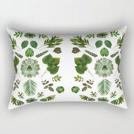 GREEN COLLAGE Rectangular Pillow