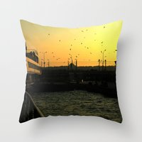 istanbul Throw Pillows featuring Istanbul by habish