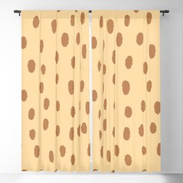 Brown Minimal Spots Blackout Curtain