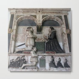 Monument ToSir William WentworthWith Depictions Of His Family Metal Print
