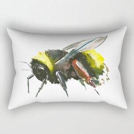 Bumblebee, minimalist bee honey making art, design black yellow Rectangular Pillow