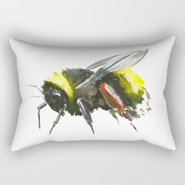 Bumblebee, minimalist bee honey making art, design black yellow Rectangular Pillow