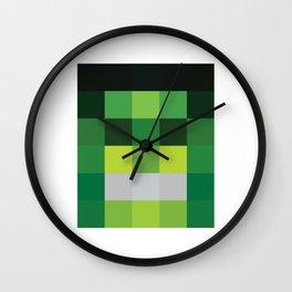 hero pixel green black Wall Clock
