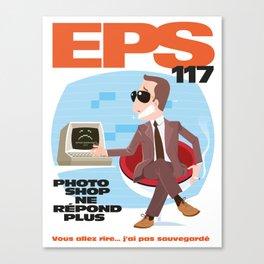 EPS 117 - Photoshop ne répond plus Canvas Print