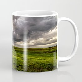 The Prairie - Golden Light Drenches Landscape After Storms in Nebraska Coffee Mug