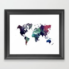 Map of the World After Ice Age Framed Art Print