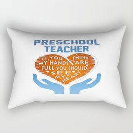 Preschool Teacher Rectangular Pillow