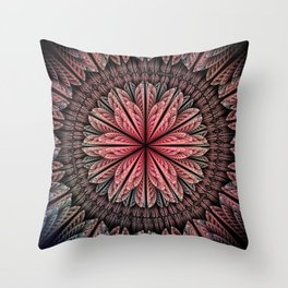 Fantasy flower and petals Throw Pillow