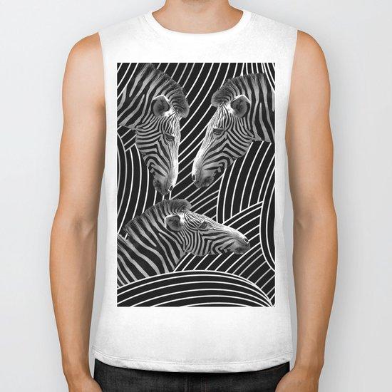Zebras Biker Tank