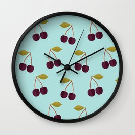 Cherry party Wall Clock