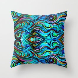 Aquatic Love Thoughts Throw Pillow
