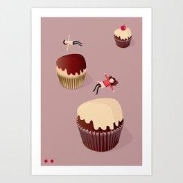 Cupcake trampoline Art Print