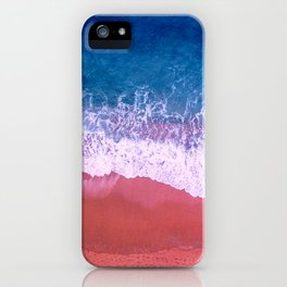 Blue ocean waves iPhone Case