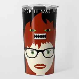 Monster On My Head Travel Mug