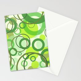 Rings green color pattern 1 Stationery Cards