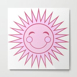 Happiness in Pink - Sunshine Series Metal Print