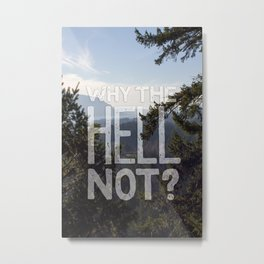 Why the Hell Not Metal Print