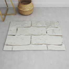 Wall texture white bricks Rug