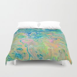 Paint Ball Rainbow Duvet Cover