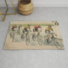 Vintage Cycling Race Illustration (1894) Rug