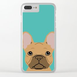 French BUlldog portrait dog breed custom pet portraits by pet friendly frenchie Clear iPhone Case