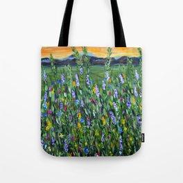 twilight mountain Tote Bag