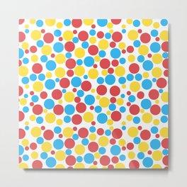 Colourful Dots Pattern_ Colorful Circles Metal Print