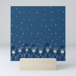 Christmas Carols Singing on a Cold Winter's Evening Mini Art Print