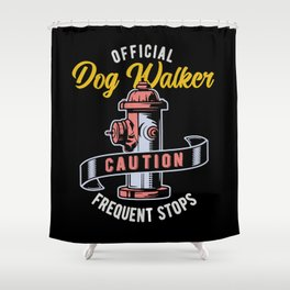 Fire Hydrant Dog Walker Shower Curtain