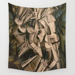 Marcel Duchamp Nude Descending A Staircase No. 2 Wall Tapestry