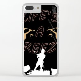 Life's A Breeze For Kitesurfers Clear iPhone Case