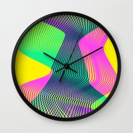 Waves on a new world Wall Clock