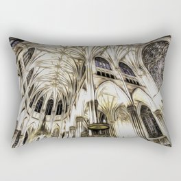 Cathedral Architecture Art Rectangular Pillow