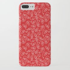 Seamless Christmas Lights (Red) Slim Case iPhone 7 Plus
