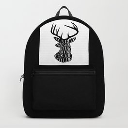 As a deer longs for water so I long for you my God Backpack