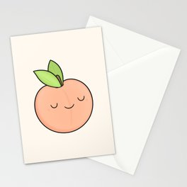 Happy Peach Stationery Cards