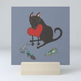 Black Dog Love Mini Art Print