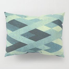 Abstract Pattern in Blue Pillow Sham