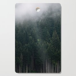 Mystic Pines - A Forest in the Fog Cutting Board
